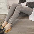 5xl plus size panty women spring autumn 2016 bermuda feminina outfit thin elastic trousers gray black leggings female A1760