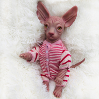 Otarddoll Silicone 18inch Reborn Cat Mold Realistic Cat Doll Rich Painting Toy For kids Gifts