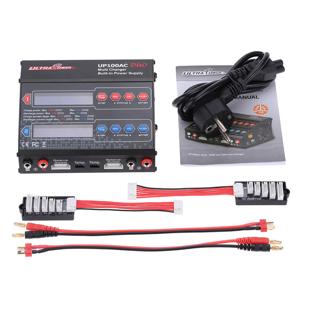 RC Power UP100AC DUO 100W Cyclic Charging/discharging LiIo/LiPo/LiFe/NiMH/NiCD Battery Balance Charger Discharger for RC Dron 1s 2s 3s 4s 5s 6s 7s 8s lipo battery balance connector for rc model battery esc
