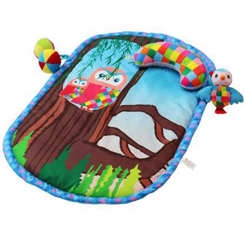 Estera de juego de bebé de alta calidad esteras de gateo de dibujos animados alfombrilla de juego de niños con almohada para desarrollar estera de actividad para niños Juguetes