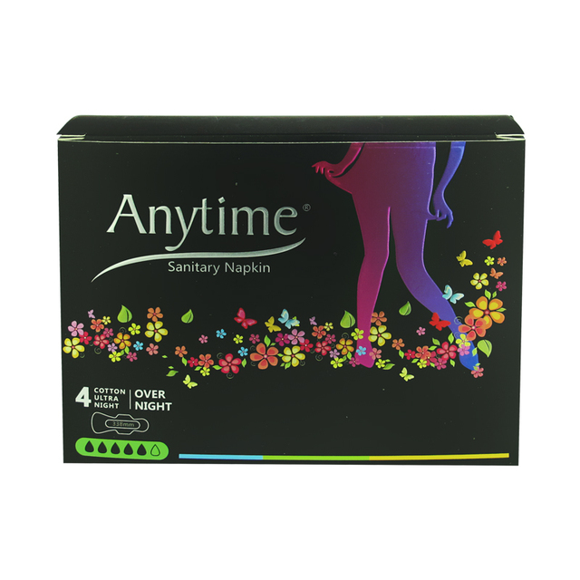 9 Boxes 338cm Women Feminine Hygiene Anion Cotton Sanitary Napkin Medicated Lady Sanitary Pad