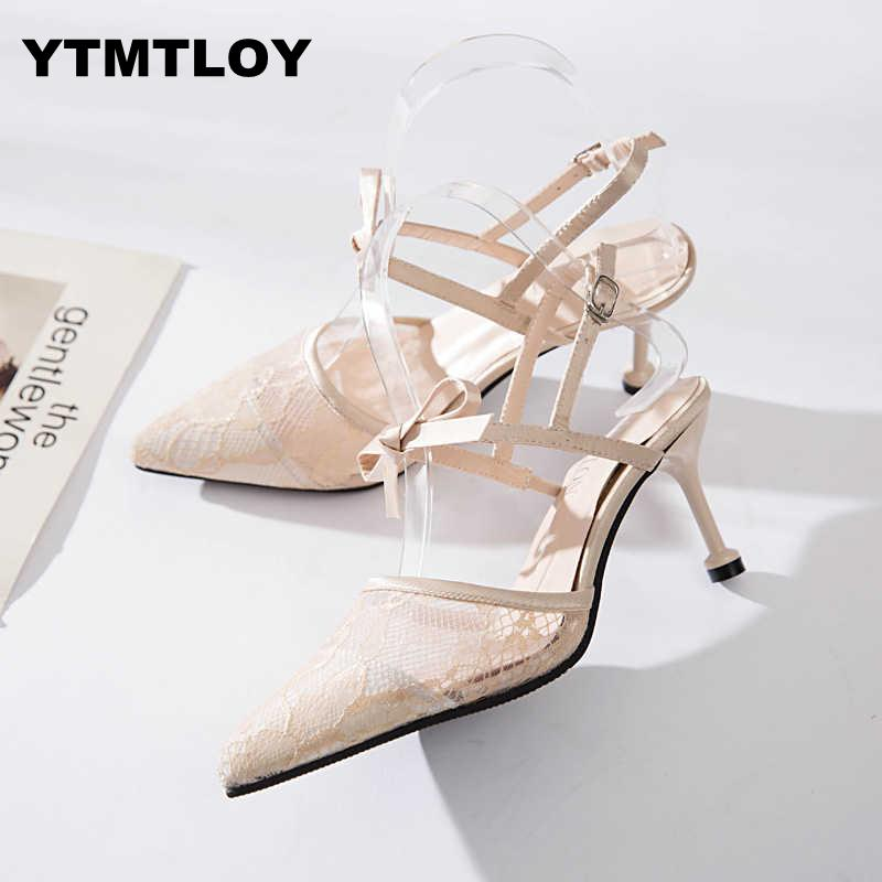 Ambitious 2019 Shoes Women Summer Shoes T-stage Fashion Dancing High Heel Sandals Sexy Stiletto Party Wedding White Black Zapatos Mujer Delaying Senility Other