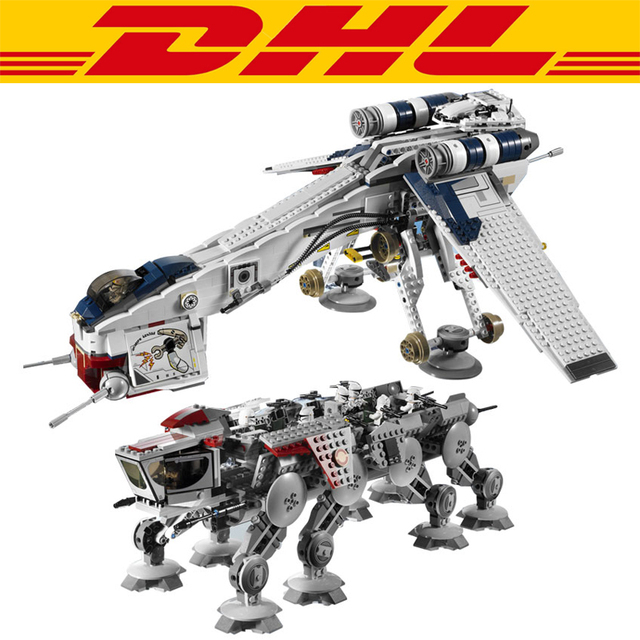 2017 Nueva LEPIN 05053 1788 Unids Star Wars República Dropship Con AT-OT Walker Modelo Kit de Construcción de Bloques de Juguete del Ladrillo Para Children10195