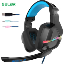Salar KX901 Deep bass Gaming Headset Wired Stereo Earphones Headphones with Microphone for