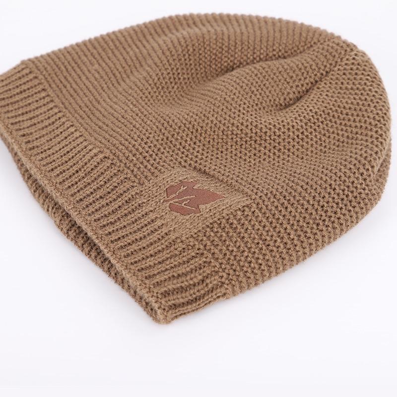 New winter knit hats men's and women's outdoor warm thickening plus velvet loose winter caps Skullies brand winter ski male bone 4