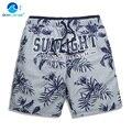 Крышка волна модные пляжные брюки мужчины большие ярдов быстросохнущая свободно молодежный отдых плавательные шорты большие шорты