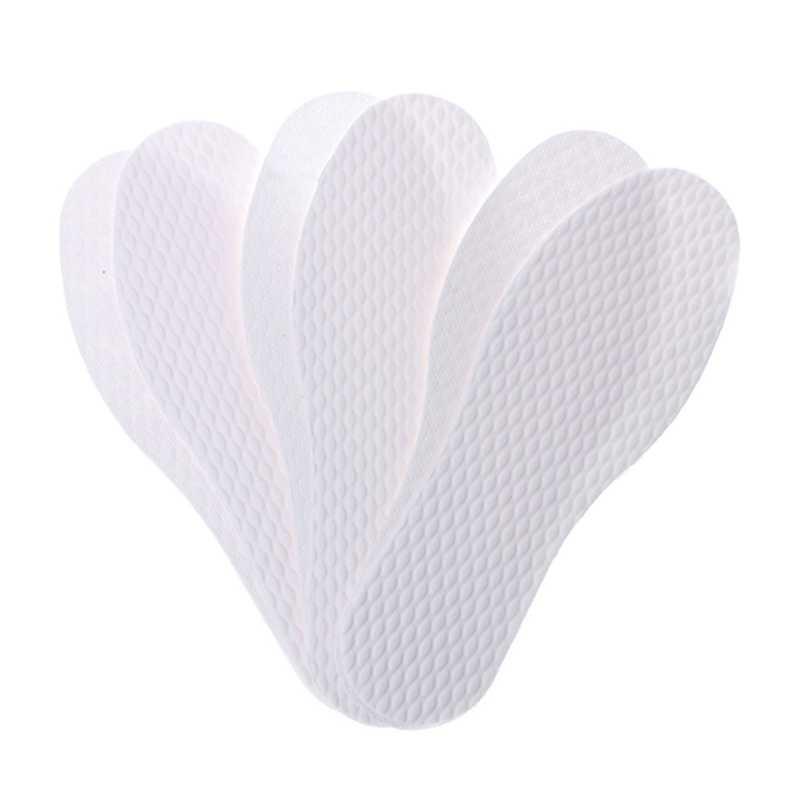 3 cặp/lô Dùng Một Lần Thoải Mái gỗ bột giấy Giày Lót Chèn lót đối với giày dép Người Đàn Ông Phụ Nữ Màu Trắng kích thước 36-46