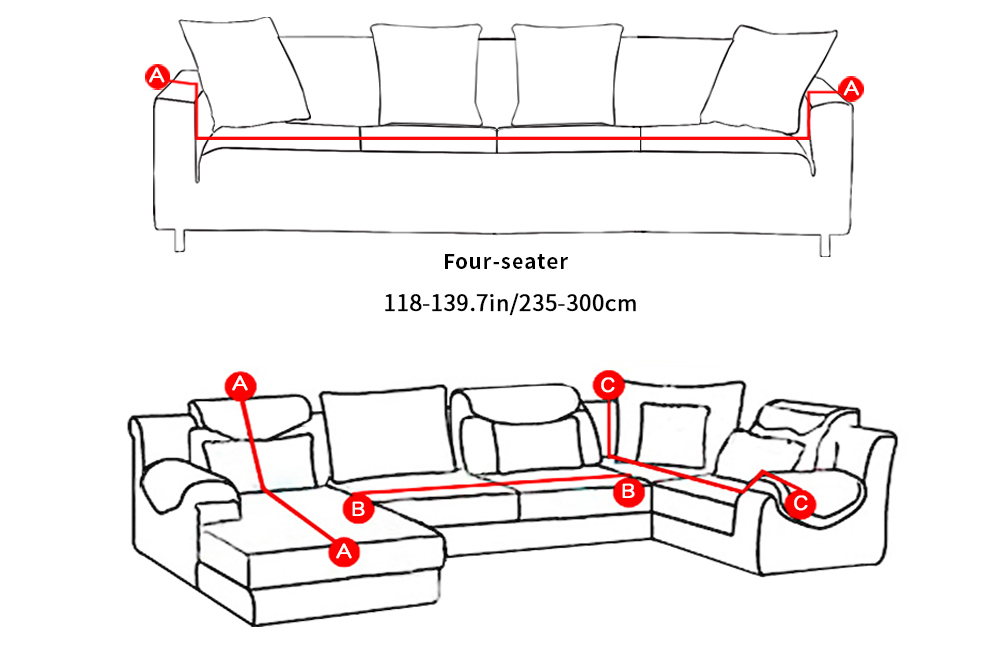 24colors Slipcover Stretch Four Season Sofa Covers Furniture Protector Polyester Loveseat Couch Cover Sofa Towel 1234-seater (3)