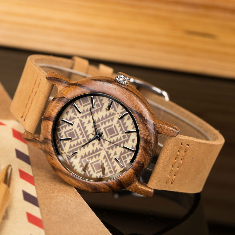 2017Ladies watch the best luxury wood watch leather strap quartz wristwatch clock women buckle clasp hours on hand fashion brand