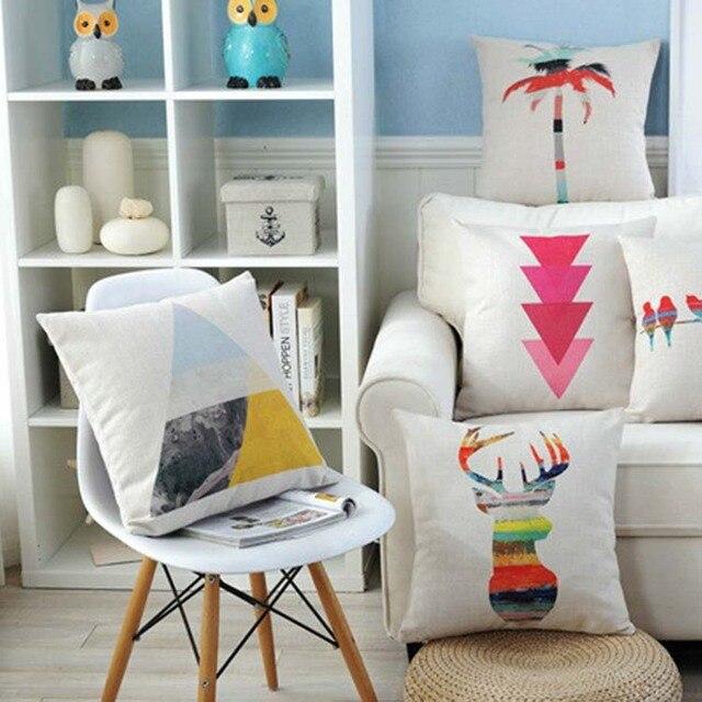 nordic design pillowcase watercolor pillow butterfly indian feather cushion decorative pillow sofa throw pillows