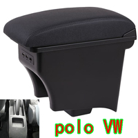 for polo Car armrest box Volkswagen pineapple armrest box POLO One piece double layer With USB can be charged
