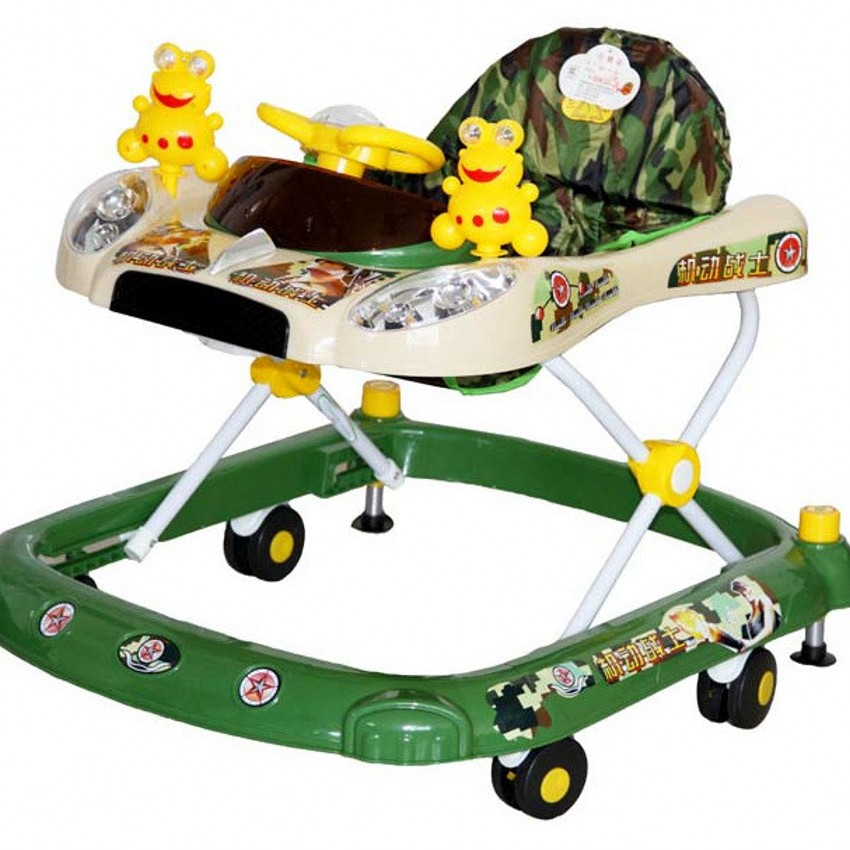 New Child Baby Walkers With Music Folding Portable Toddlers Baby Toy Cars Multifunctional Baby Walking Learning Car