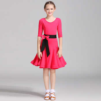 Professional Latin Dance Dresses For Rose blue Green Multi Size School Girl Exam Dresses Kids Ballroom Showing Chacha Suit I094 - DISCOUNT ITEM  0% OFF All Category