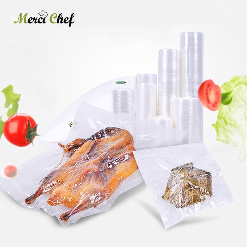2Pcs/Lot Vacuum Bags For Vacuum Sealer Fresh Long Keeping Food Grade Plastic Vacuum Packing Food Storage Bag Food Sealer Tools