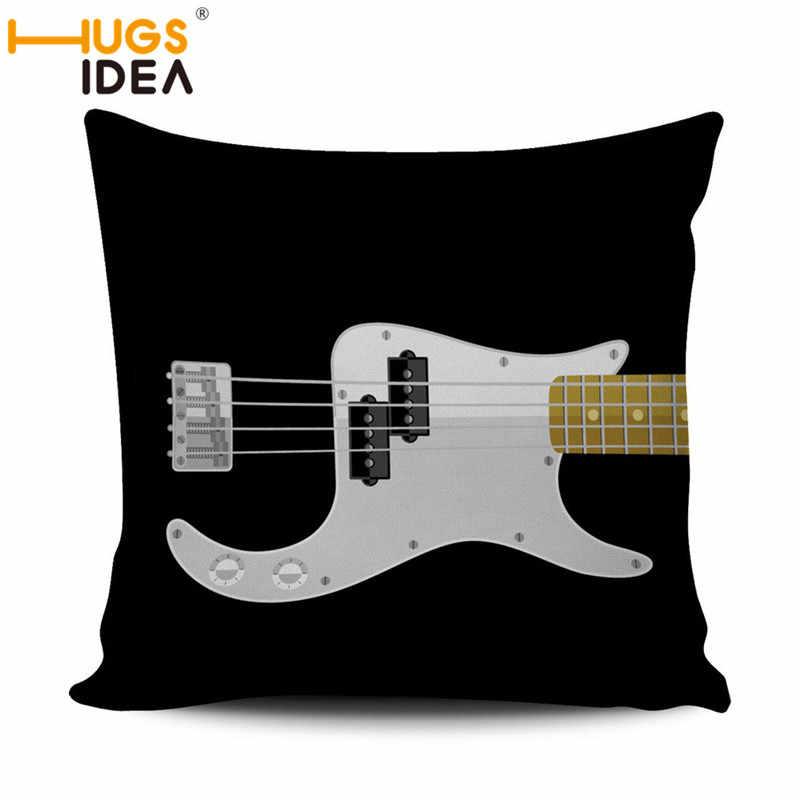 Groovy Hugsidea Cute Cartoon Guitar Printed Cushion Cover Throw Ocoug Best Dining Table And Chair Ideas Images Ocougorg