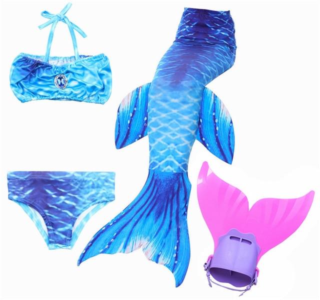 NEUE Kinder Meerjungfrau Schwanz mit Monofin Kinder Mädchen Kostüme Schwimmen Meerjungfrau Schwanz Meerjungfrau Badeanzug Flipper für mädchen