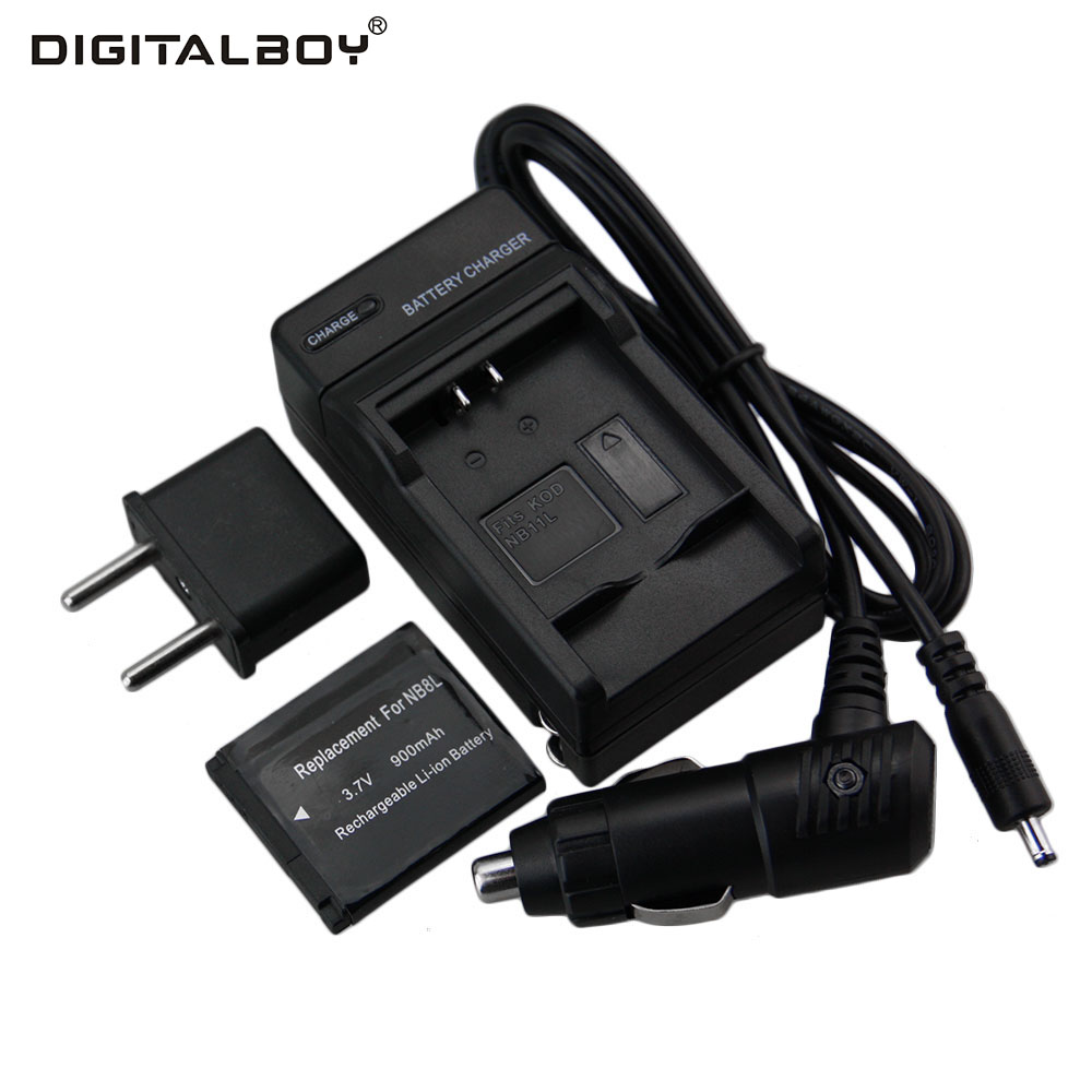 Hot Sale 1pcs Battery + Charger NB-8L NB 8L NB8L Rechargeable Camera Battery For Canon Powershot A2200 A3100 A3200 A3300 PM059 ismart replacement nb 5l 3 7v 1200mah battery for canon powershot sx230hs sx210is more page 1
