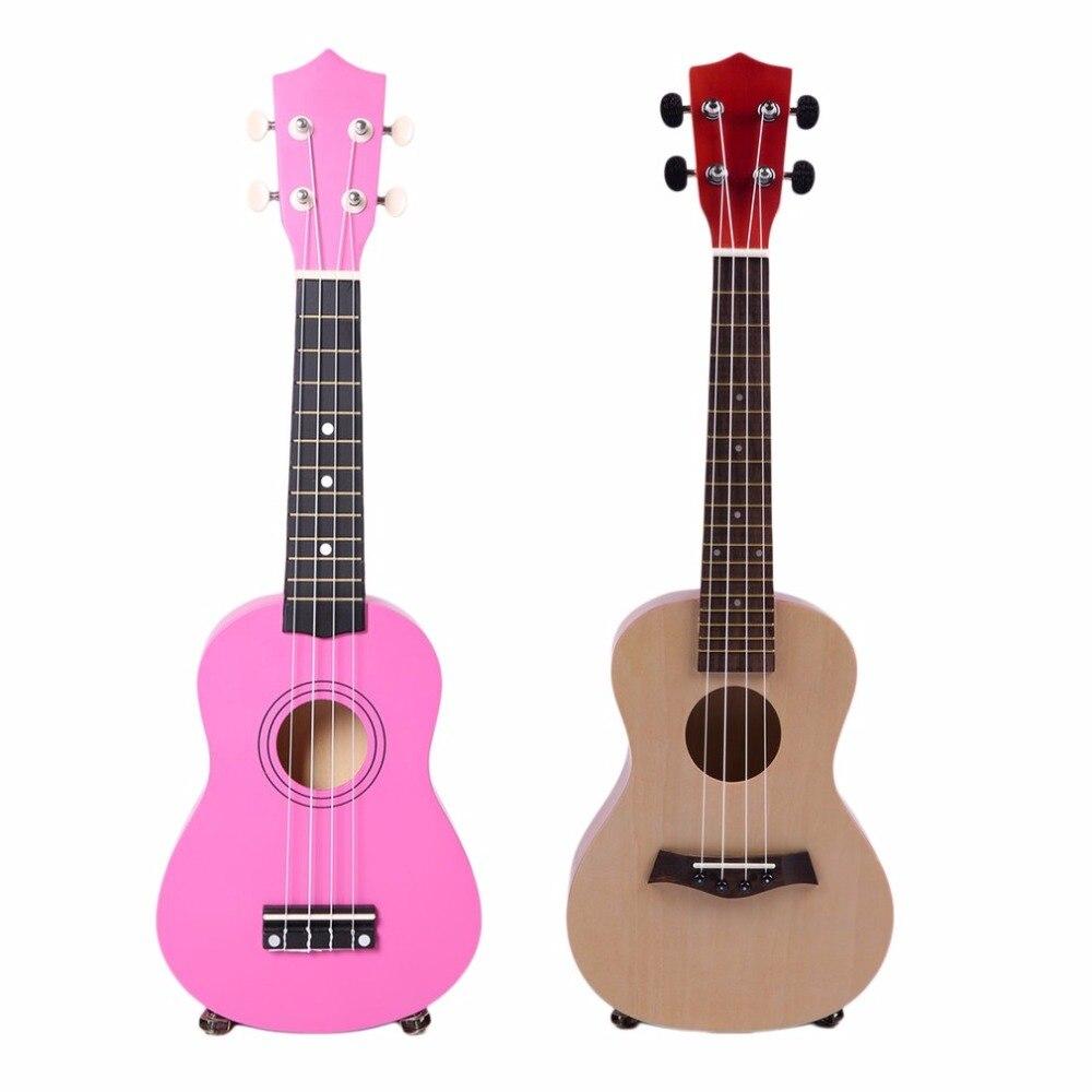 23 Inch Universal Wooden Ukulele Portable Size Hawaii Style Rosewood Ukelele Music Instrument Beginners Players Training