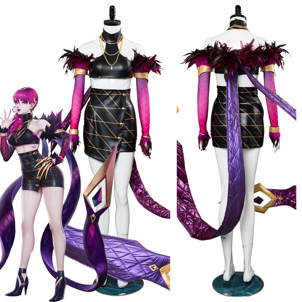 LOL Cosplay Agony's Embrace K/DA Evelynn Cosplay Costume Halloween Carnival Costumes