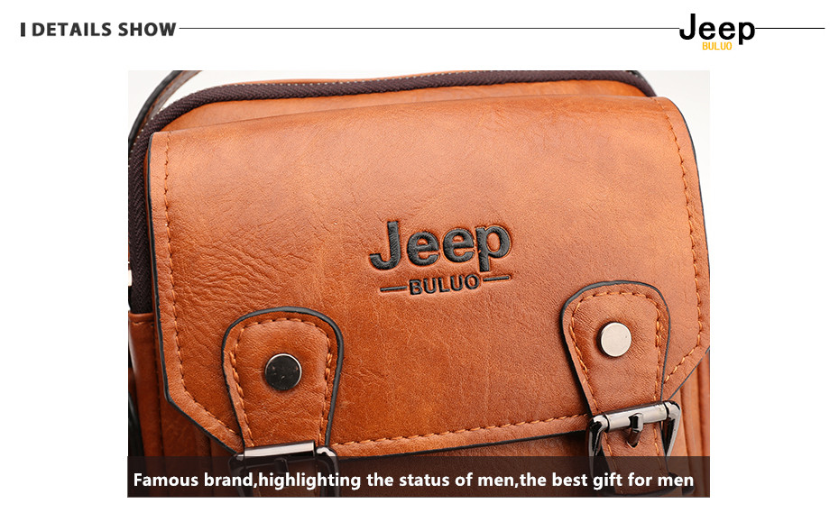 JEEP BULUO Multi-function Men Handbags New Man's Crossbody Shoulder Bag Large Capacity Leather Messenger Bag For Man Travel Cool 10