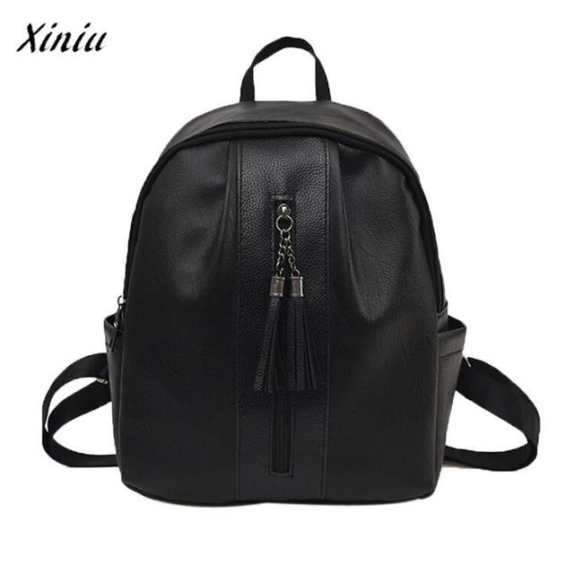 1f521d1067f1 Xiniu Quality Women s Backpack Travel Softback mochila feminina Zipper  Tassel Rucksack Fashion Female Shoulder School Bags