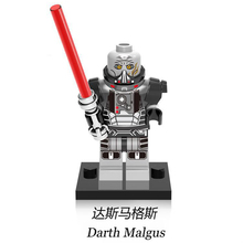Star Wars bloques de construcción Star Wars leia señor Sith Darth Vader Maul Revan Dooku Sidious ladrillos Juguetes kits legoing figuras