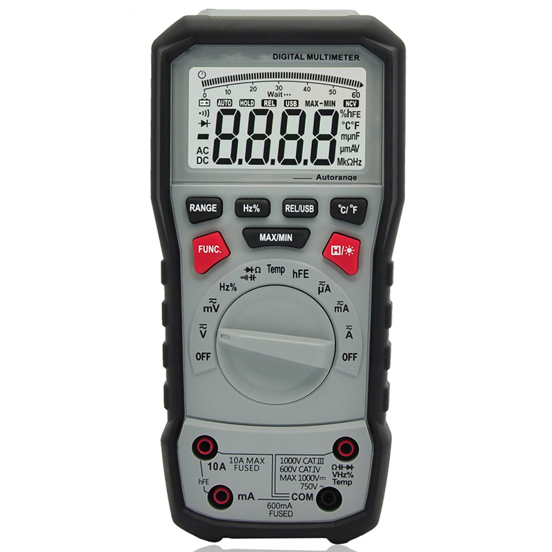 True RMS Professional Digital Multimeter Frequency Continuity Transistor AC/DC Current AC/DC Voltage Resistance Capacitance true rms multimeter ac