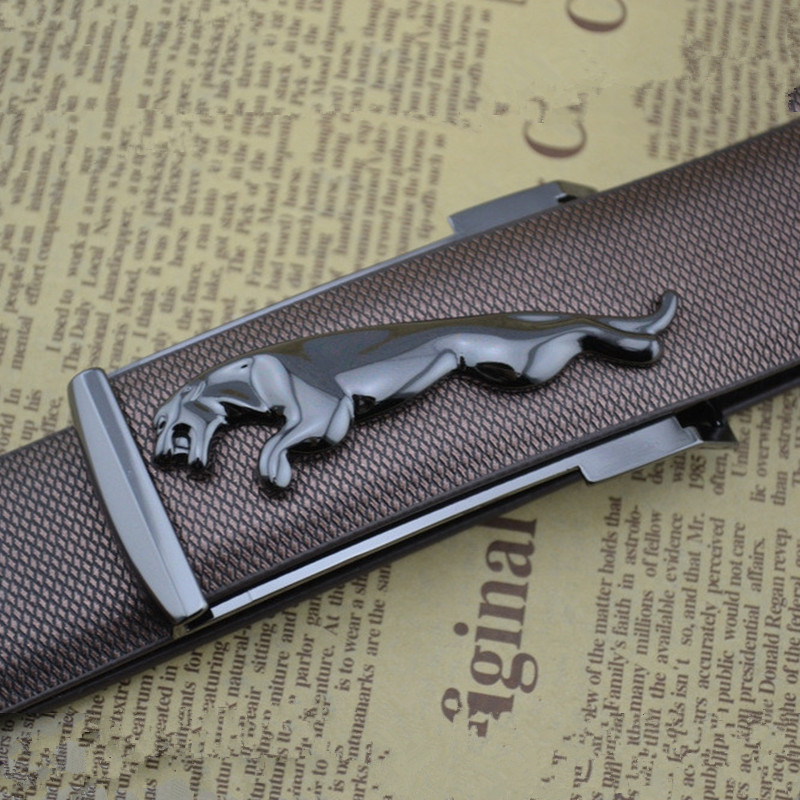 Original El Barco Plaid Leather Belt Men High Quality Cowhide Male Casual Belts Black Coffee Luxury Designer Strap Leopard Horse Buckle Men's Belts