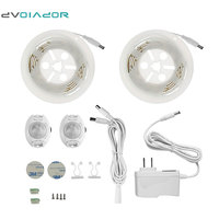 DVOLADOR Double LED Strip Motion Sensor Night Light Waterproof 2 1 2M 36LED Motion Activated Bed