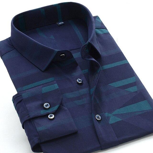 Neue comming herbst langarm Herren Bambus Faser shirts formale kleid shirts sehr große große plus größe XXL 5XL 6XL7XL8XL 9XL 10XL