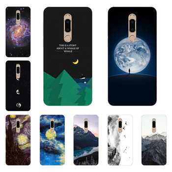 meizu m6t Case,Silicon Mountain peaks Painting Soft TPU Back Cover for meizu m6t protect Phone shell