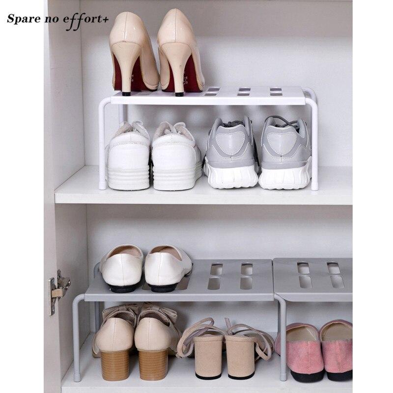 Stratified Shoe Racks Storage Organizer Plastic Shoes Shelf Stand Holder Shoe Rack Save Space Kitchen Stratified Storage Racks
