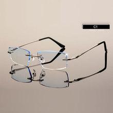 Homens Eyewear C001 Diamante Corte Corte De Óculos Sem Aro Prescrição  Óptica Óculos de Armação para o Homem Óculos b431fb6a5a