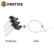 ZS MOTOS 3 colors Throttle Grip Twist Quick Action Gas Throttle Settle+Cable Fit KAYO Apollo Bosuer xmotos Dirt Pit Bike цена