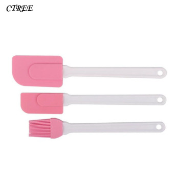 CTREE 3Pcs/sets Camp Brush Kitchen Ware Silicone Baking Sauce Brush Butter Cooking Spatula Pastry Scraper Cake Baking Tool C174