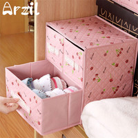 Lacy Lace Dot Underwear Divider Drawer Ties Socks Shorts Bra Storage Box Foldable Container 2 Layers 3 Drawers Lidded Closet
