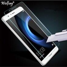2 uds para Protector de pantalla Huawei Honor 8 vidrio templado para Huawei Honor 8 película de vidrio para Honor 8 película protectora fina Wolfsay