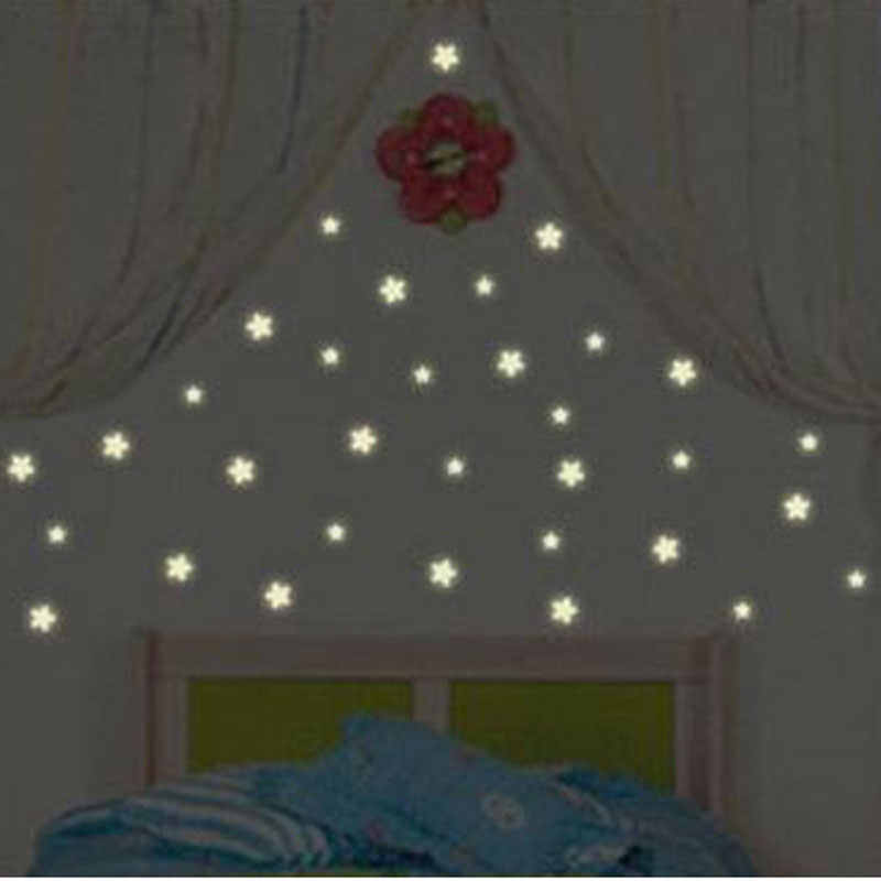 100pcs 3D Stars Glow In The Dark Wall Stickers Luminous Fluorescent Wallpaper For Kids Baby Room Bedroom Ceiling DIY Home Decor