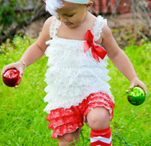 Baby Girl Christmas Lace Rompers,Newborn Baby First Christmas Outfit,Xmas Jumpsuit Baby Clothes