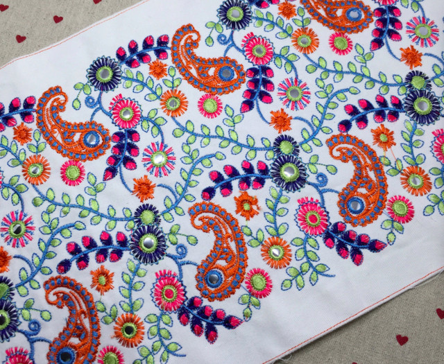 Online Shop Miao Hmong Embroidery Cotton Fabric Lace 25cm Sewing
