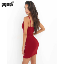 Gagaopt Spring / Summer Dress Black & Red Dress Thick Skinny Sleeveless Sexy Sheath Party /Club Bandage Dress Vestidos Roebs