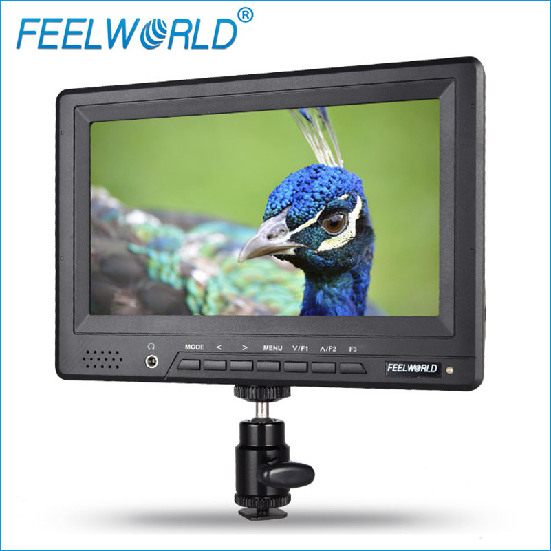 FW678-HD/O 7 Inch Camera Field Monitor HDMI with Peaking Focus Assist Feelworld Photography Top Video LCD Monitor for DSLR BMPCC