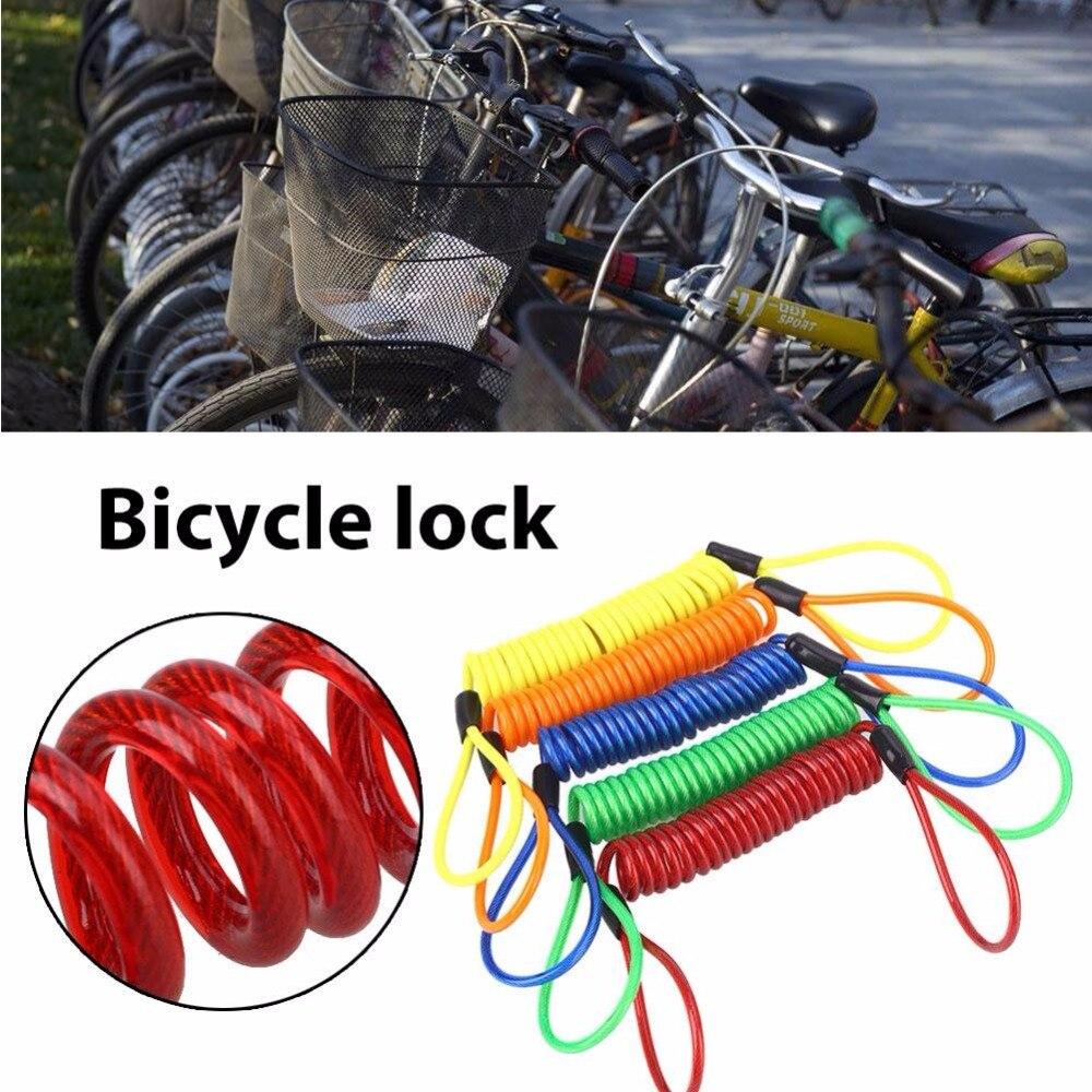 EYCI Motorcycle Lanyard Disc Brake Lock Bicycle Safe Tools Anti-Thief Remind 150cm Prop Scooter bike Anti-Thief Cable Lock