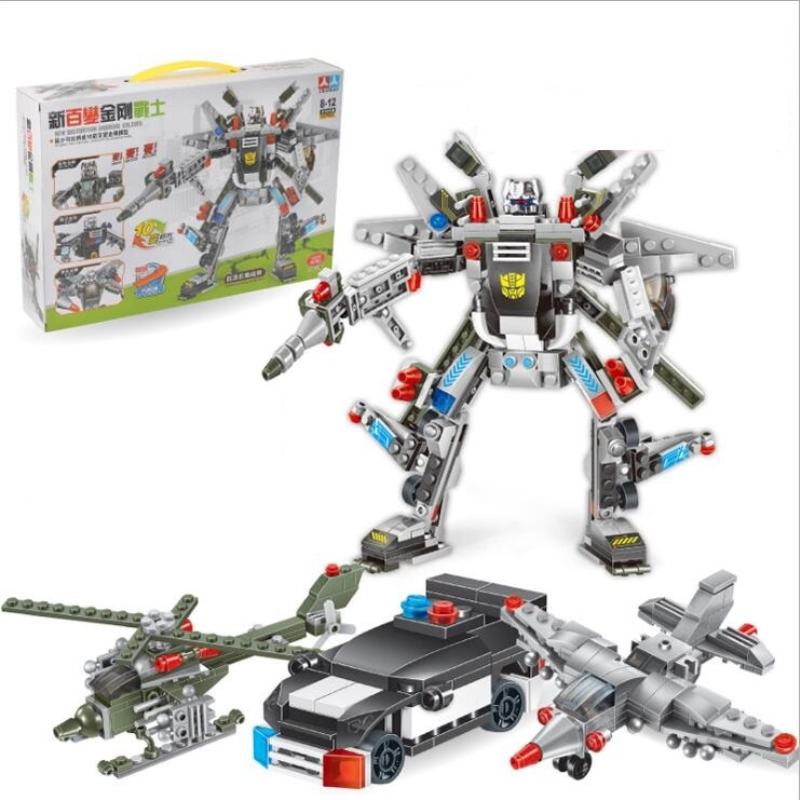 Super Cool Mech Transformer Robot DIY Building Blocks Kit Toys Kids Birthday Christmas Gifts in Model Building Kits from Toys Hobbies