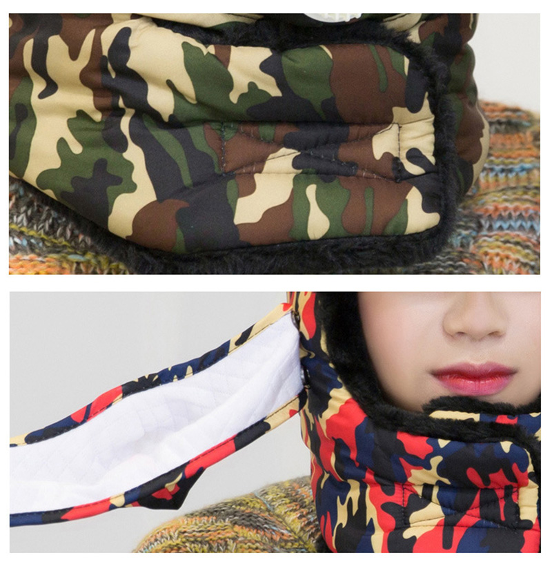Winter Thermal Hiking Caps,Camouflage Warm Ear Neck Protector with Breathing Valve,Women Men Sports Ski Hats facemask