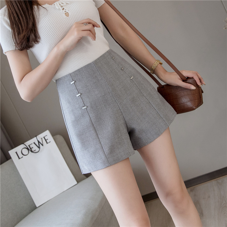 Summer Shorts For Women 2019 High Waist Casual Wide Leg Shorts Loose OL work Wear Solid Shorts 16