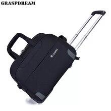Сумка на колесиках для путешествий, сумка для чемодана, большая вместительность, Оксфорд, багаж для досуга, сумка на колесиках для мужчин и женщин, сумка на колесиках