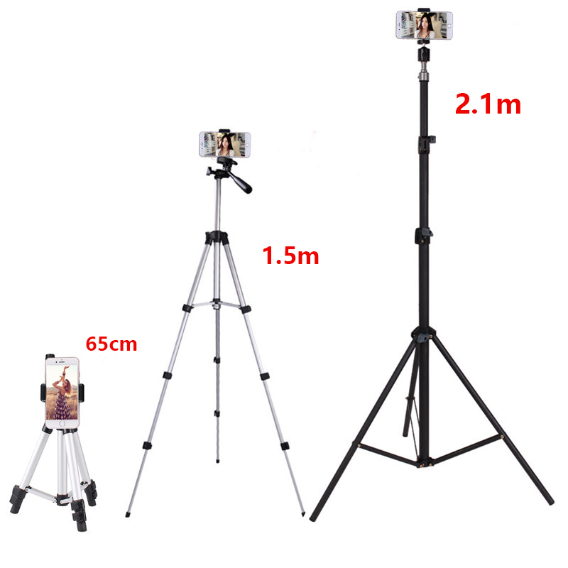 Phone Holder with Remote Mobile Phone Tripod Stand for