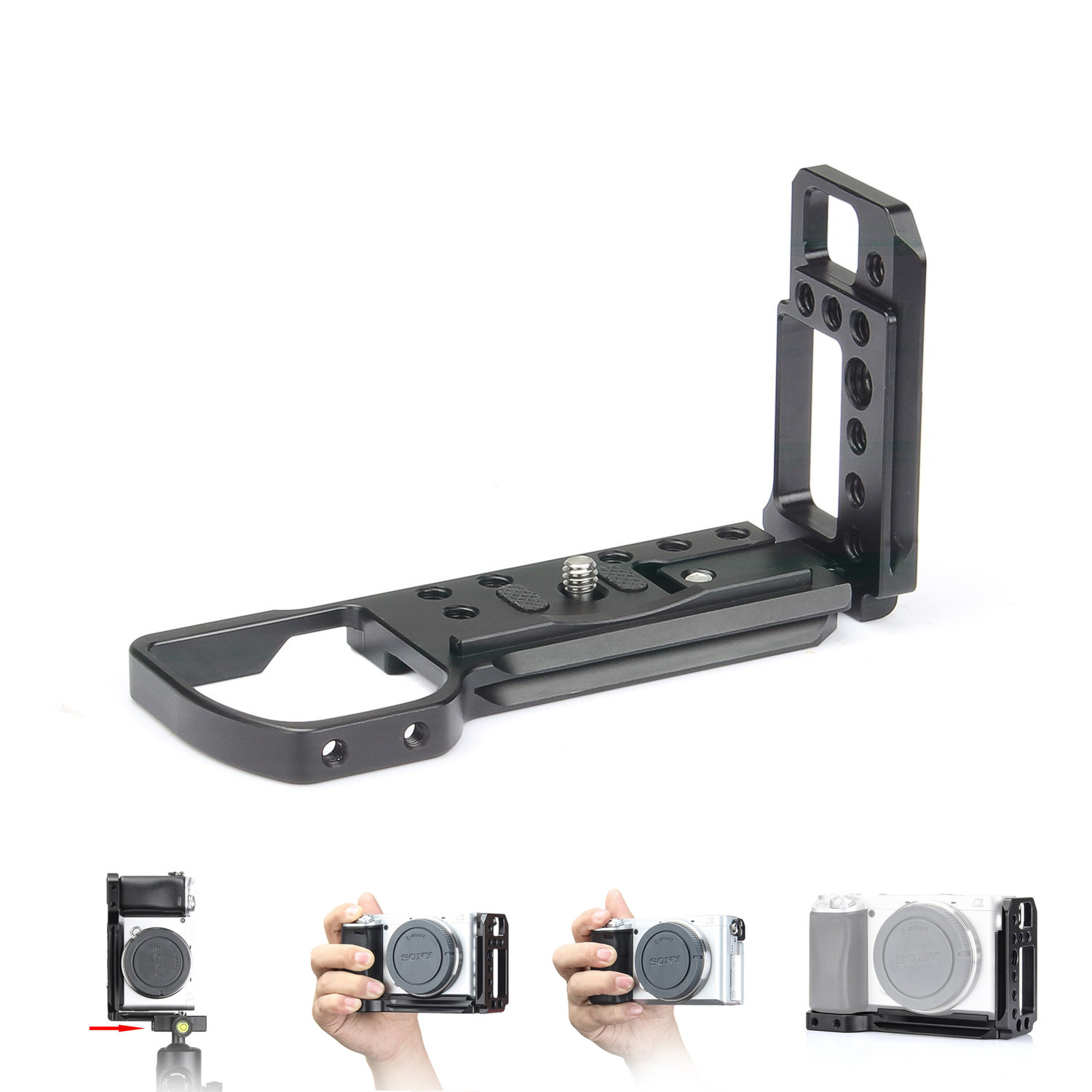EachRig L-Bracket camera cage for Sony a6400, a6000, Arca-Type compatible dovetail plate free shiping drop shipping