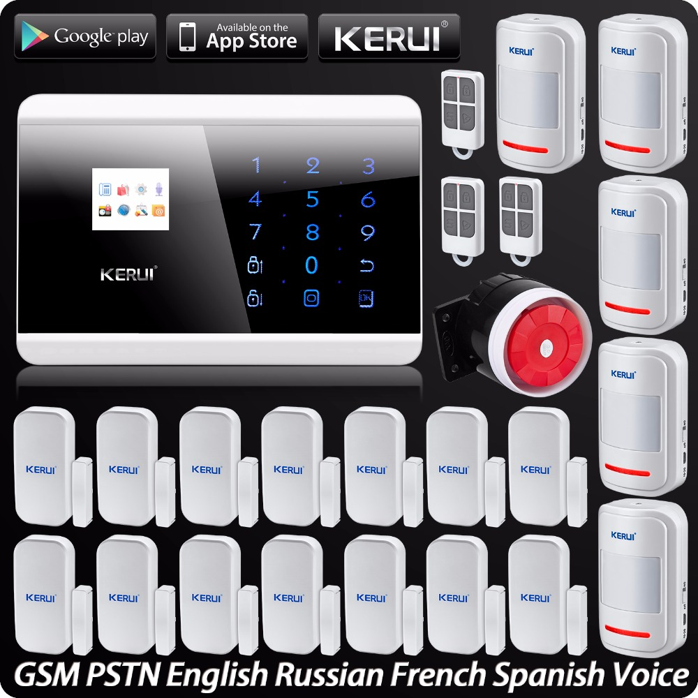 IOS Android APP Control Touch Panel Wireless GSM PSTN Dual Net Home Security Burglar Alarm System Auto dial Secure System